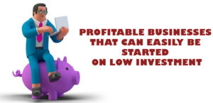 PROFITABLE BUSINESSES THAT CAN EASILY BE STARTED ON LOW INVESTMENT